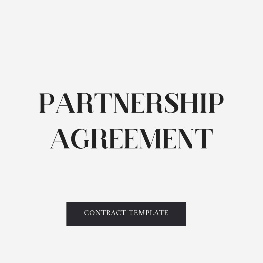 Partnership Agreement Contract Template