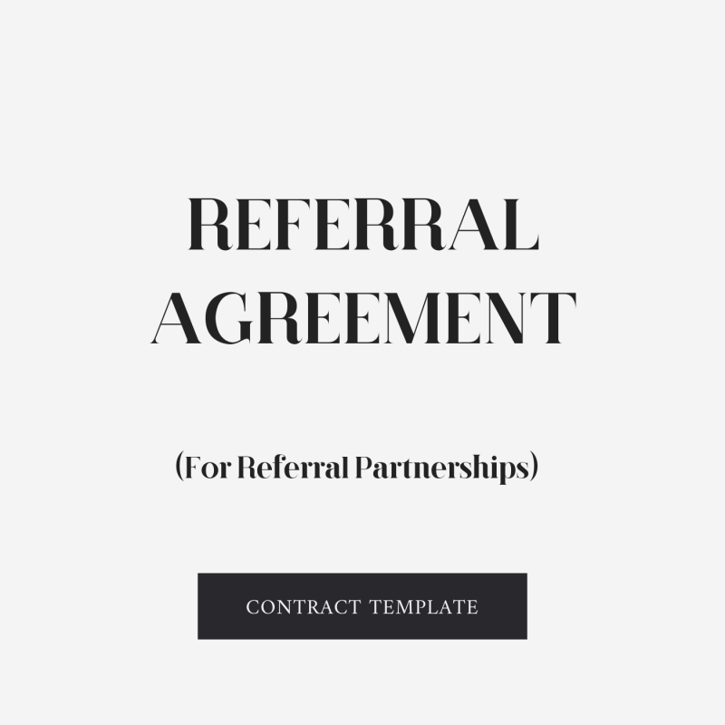 Referral contract template