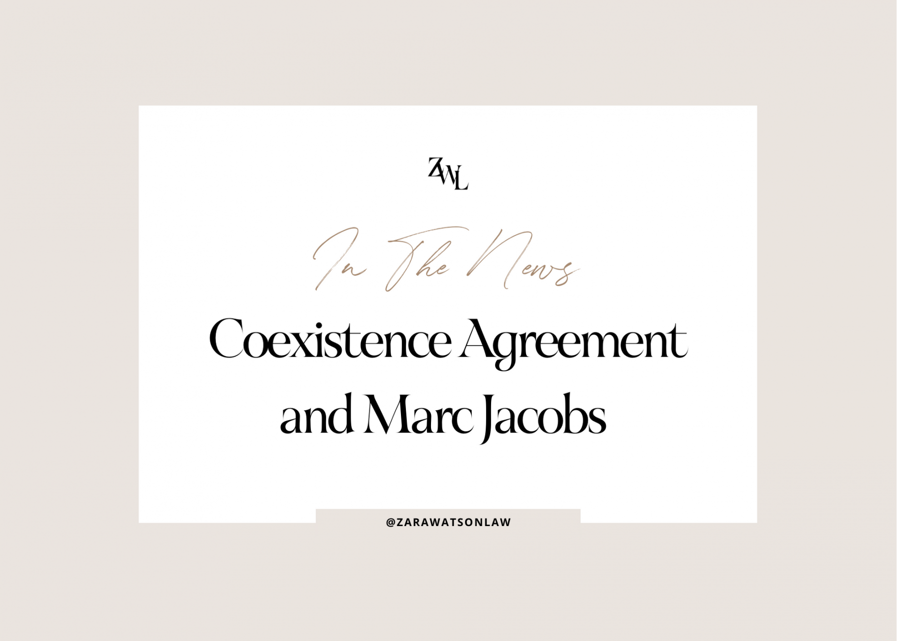 Coexistence agreements and trademarks