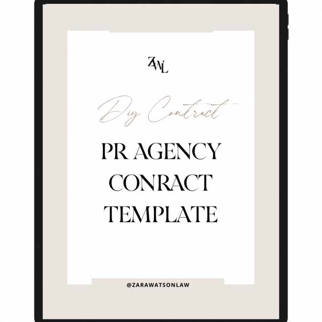PR AGENCY CONTRACT TEMPLATE