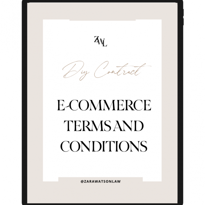 E-COMMERCE TERMS OF USE CONTRACT TEMPLATE